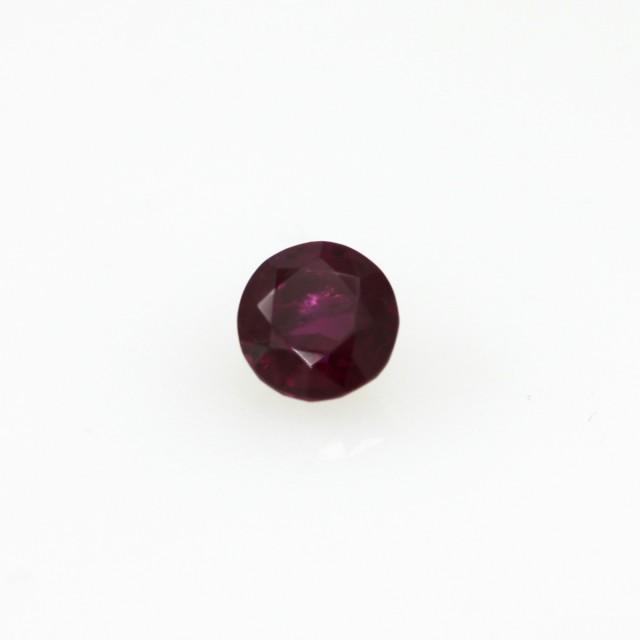 0.34cts Natural Burma Ruby Round Cut