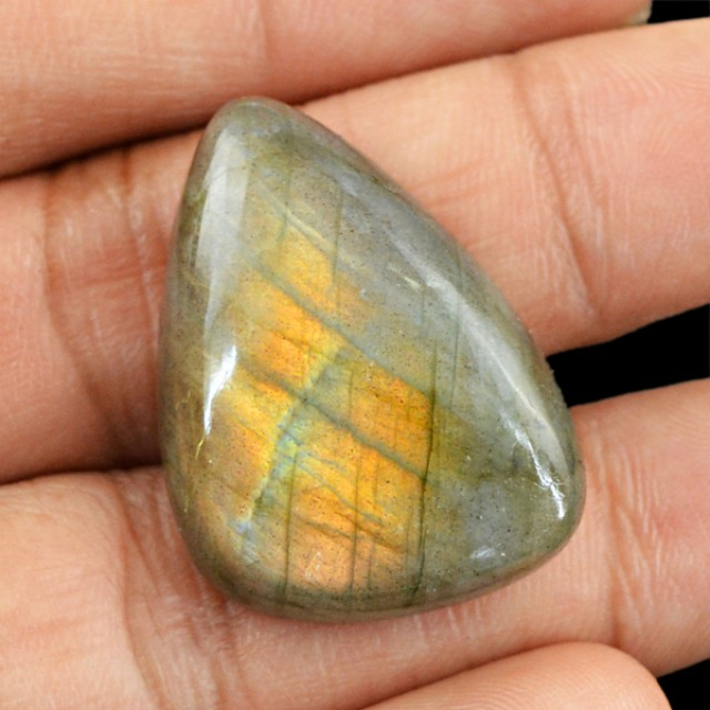 Genuine 35.25 Cts Labradorite Untreated Cab