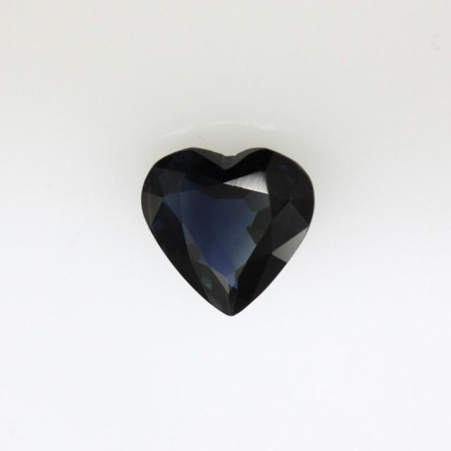 1.03cts Natural Australian Blue Sapphire Heart Cut
