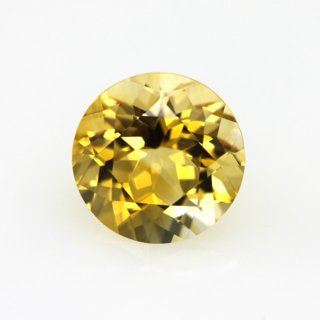 3.42cts Golden Yellow Citrine Round Shape