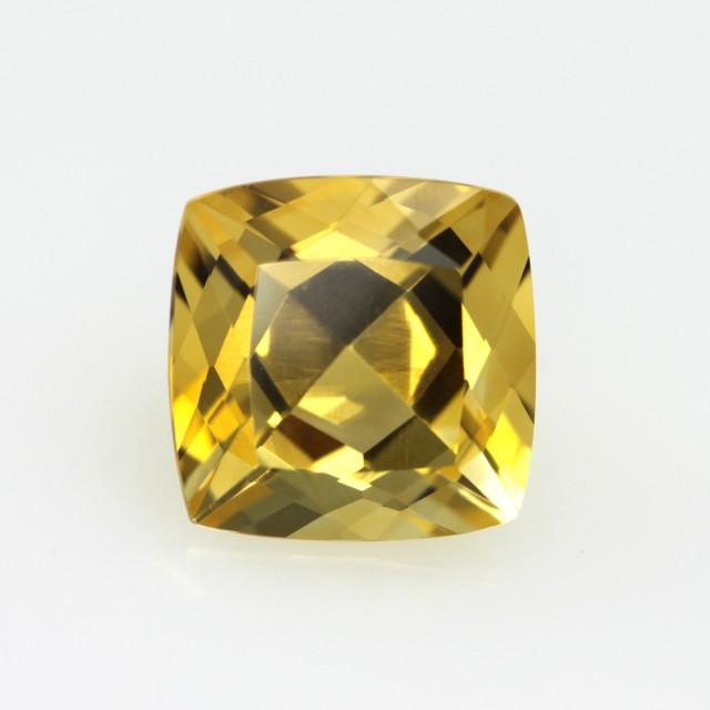 4.35cts Golden Yellow Citrine Cushion Shape