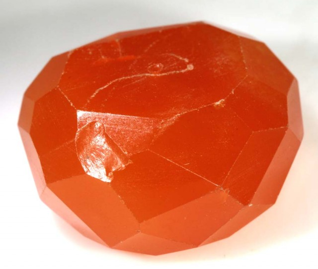 FREE SHIPPING    31.10 CTS CARNELIAN FACETED BEAD  ANGC-420