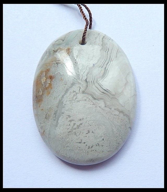 78.5Cts Natural Crazy Lace Agate Pendant Bead