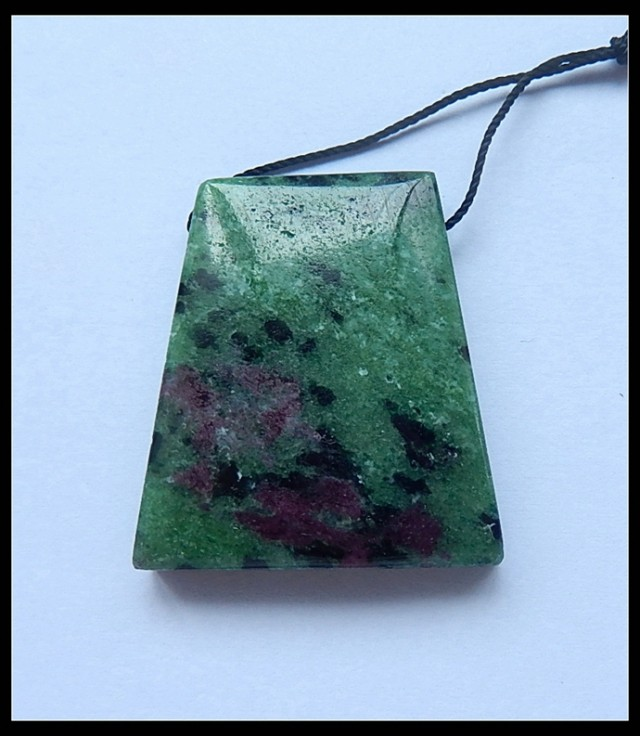 82cts Ruby And Zoisite Pendant Bead