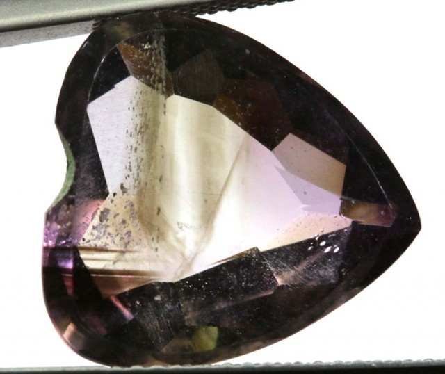 8.85 CTS UNTREATED AMETHYST BI-COLOR FACETED RNG-388