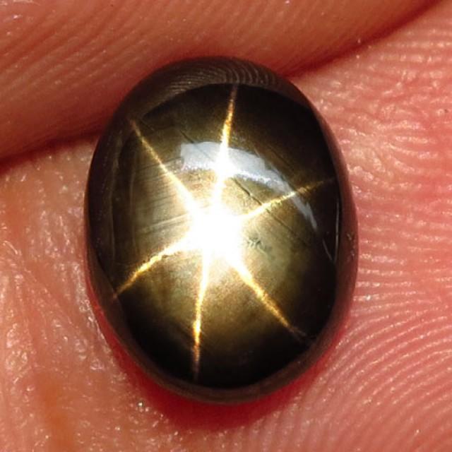 3.68 Carat Thailand Black Star Sapphire