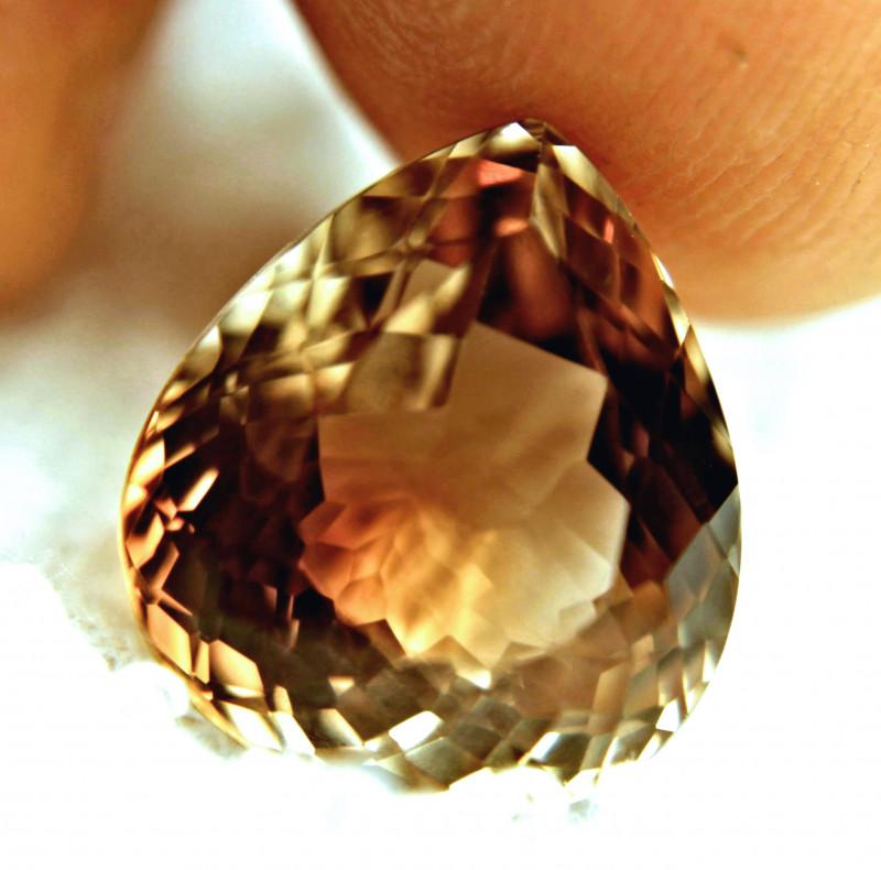 15.07 Carat VVS Brazil Golden Brown Topaz
