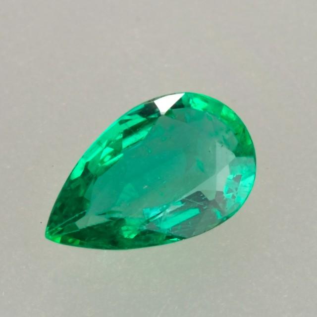 1.38ct Pear Cut Crystal Quality Zambian Emerald