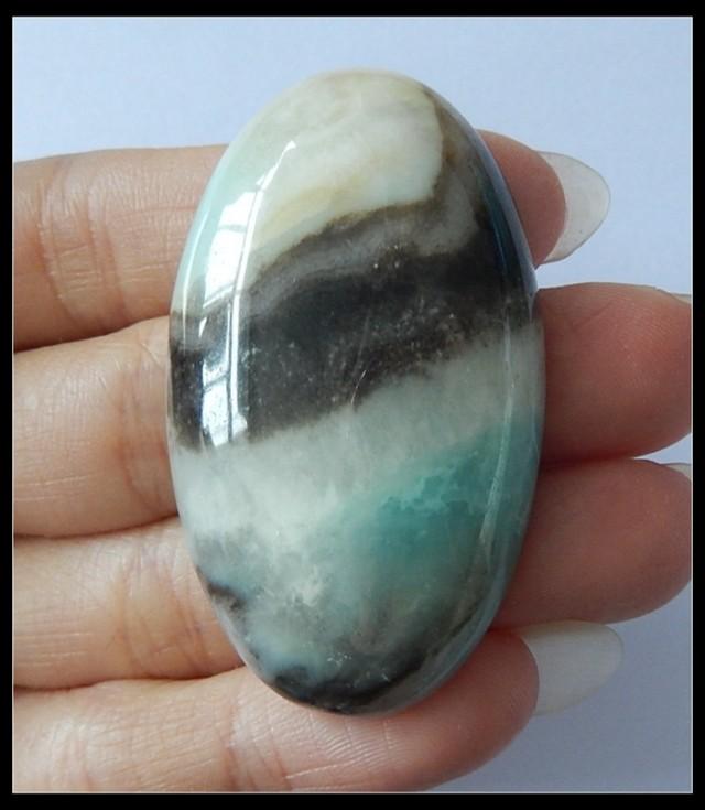 123Ct Natural Amazonite Gemstone Cabochon