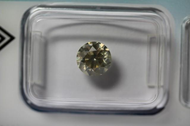 1.35 ct diamond brilliant cut, natural fancy brownish yellow SI2