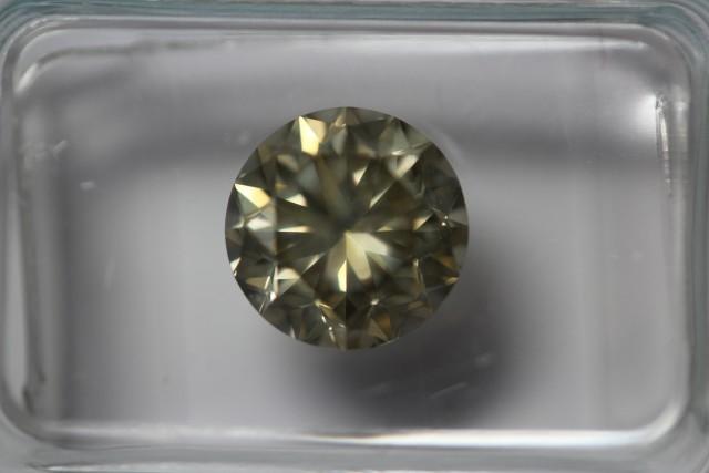 2.08 ct brilliant cut diamond, yellow-brown