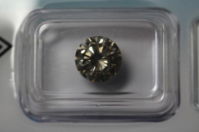 2.15ct diamond brilliant cut, natural fancy light yellowish brown SI2
