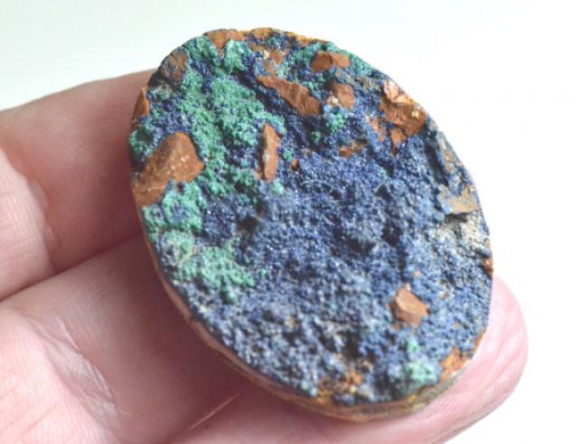 Drusy Over Malachite Pocket E531