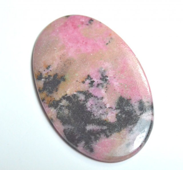 Large oval pink Rhodonite cabochon