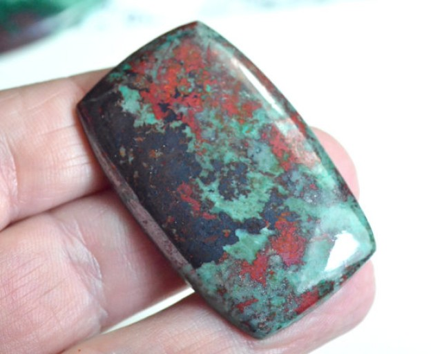 RESERVED 45mm 79ct Sonora Sunrise Chrysocolla cabochon or Cuprite Chrysocol