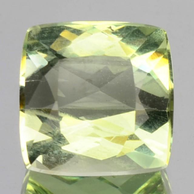 3.06 Cts Natural Mint Green Beryl Cushion Cut Brazil Gem