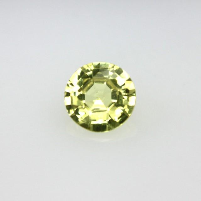 0.34cts Natural Australian Yellow Sapphire Round Cut
