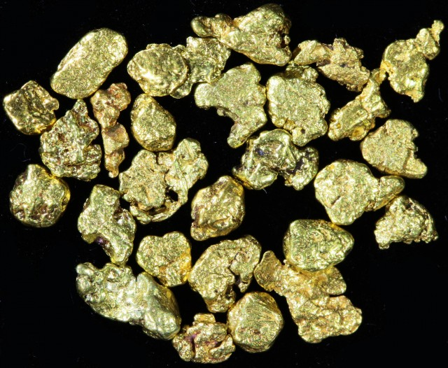 One Gram 14 screen Yukon Gold nuggets LGN 1395