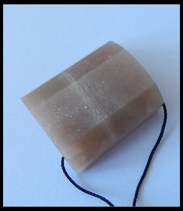 92 Ct Natural Sunstone Faceted Pendant Bead, Faceted Sunstone