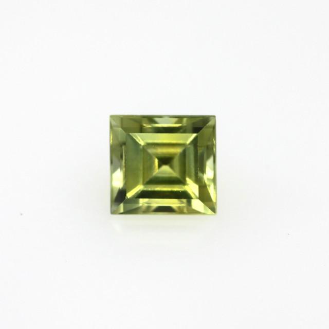 0.82cts Natural Australian Yellow Sapphire Square Cut