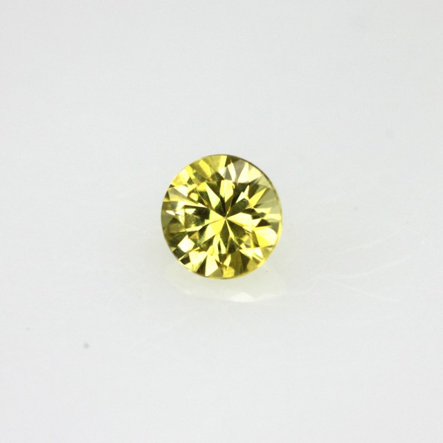 0.21cts Natural Australian Yellow Sapphire Round Cut