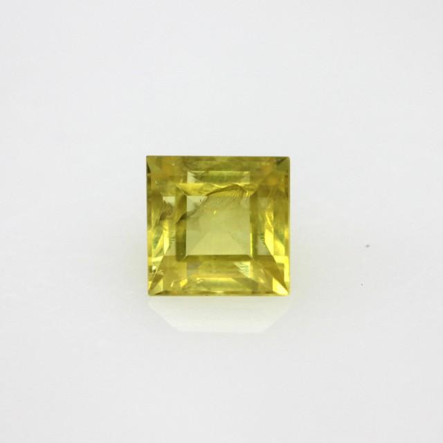 0.69cts Natural Australian Yellow Sapphire Square Cut