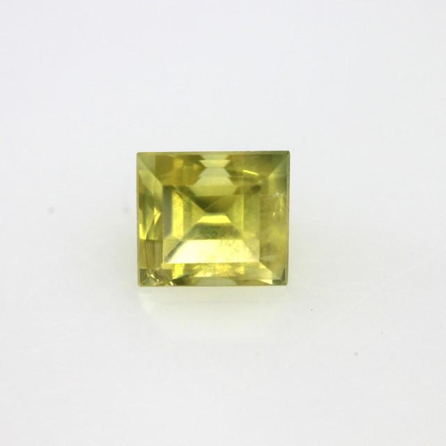 0.83cts Natural Australian Yellow Sapphire Square Cut