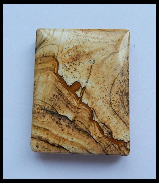133.5CT Natural Impressionist Picture Stone Pendant Bead(D0005)