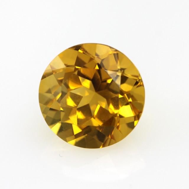 3.51cts Golden Yellow Citrine Round Shape