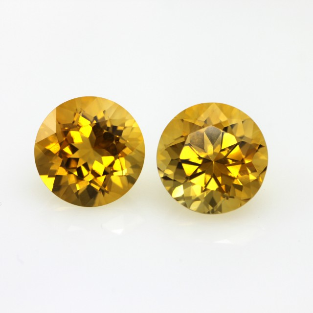 8.75cts Golden Yellow Citrine Round Shape