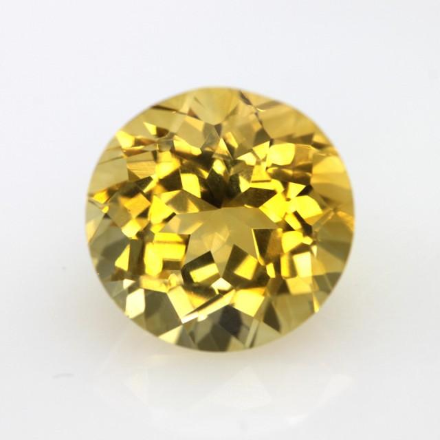 4.59cts Golden Yellow Citrine Round Shape