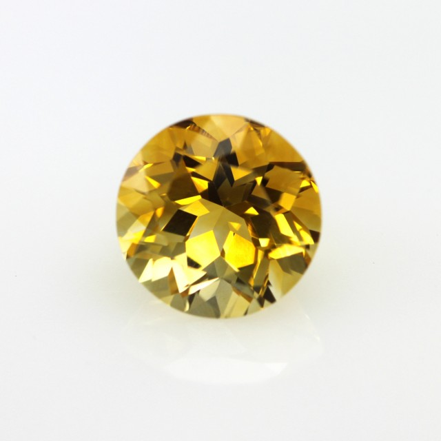 3.52cts Golden Yellow Citrine Round Shape