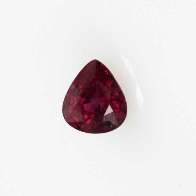 0.38cts Natural Ruby Oval Pear Shape