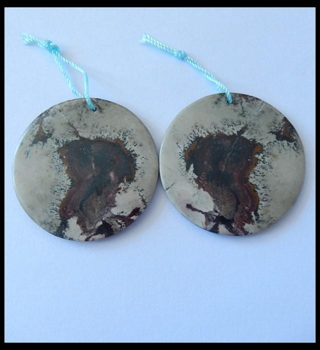 79.7Ct Natural Chohua Jasper Earring Beads Pair (18091173)