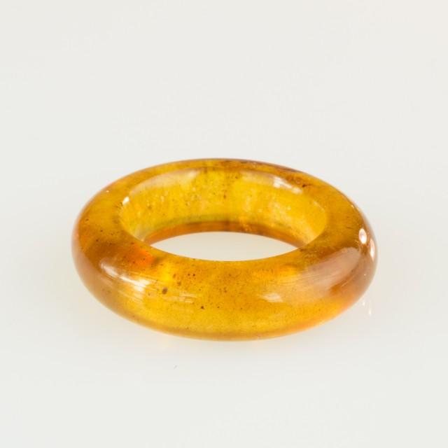 12.45ct Burmite Amber Ring Carving