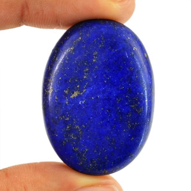 Genuine 74.20 Cts Lapis Lazuli Oval Shaped Cab