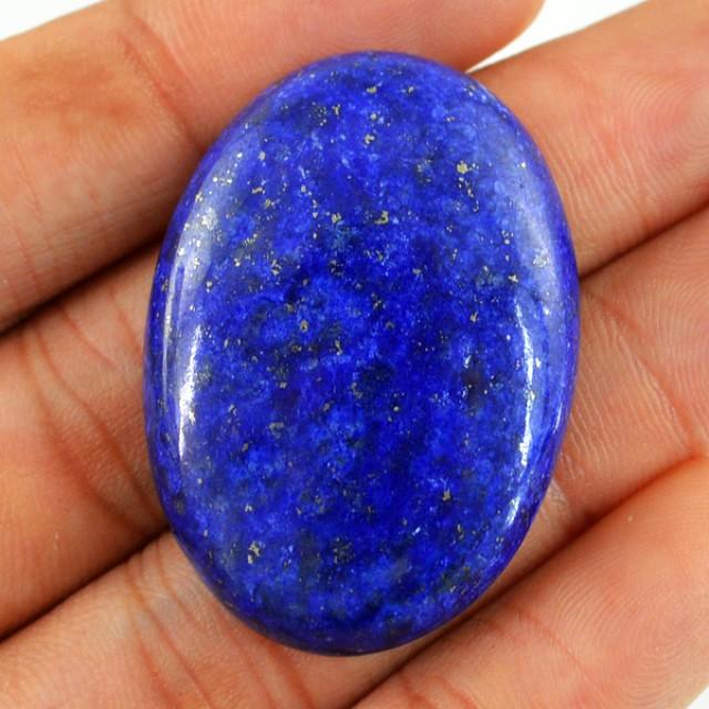Genuine 80.35 Cts Blue Lapis Lazuli Oval Shaped Cab