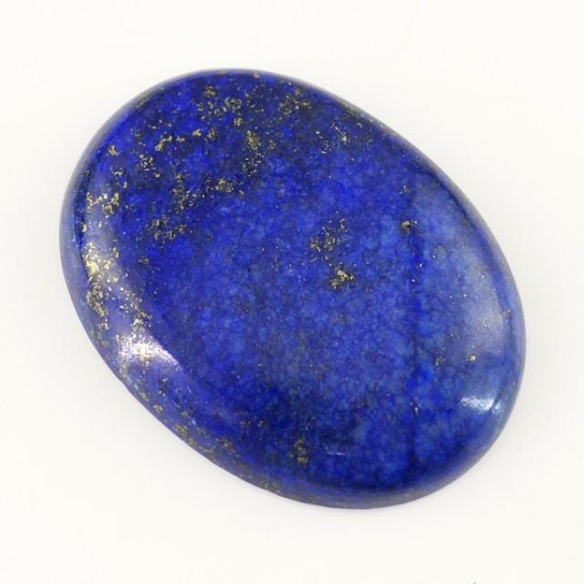 Genuine 86.75 Cts Blue Lapis Lazuli Oval Shaped Cab