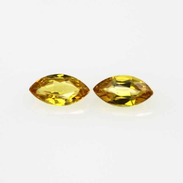0.67cts  Matching Marquise Natural Gold/Yellow Sapphires
