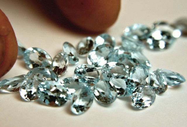 27.36 Ct. Brazil Blue Topaz Accents - 29 Pcs.