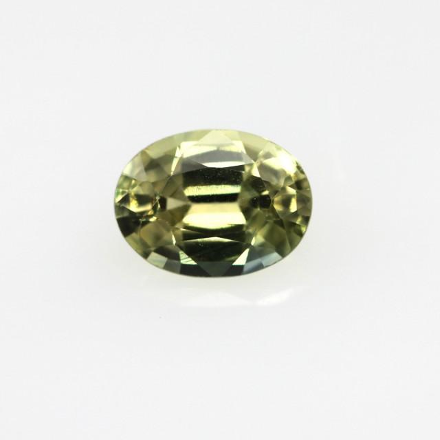 0.74cts Natural Australian Yellow Sapphire Oval Shape