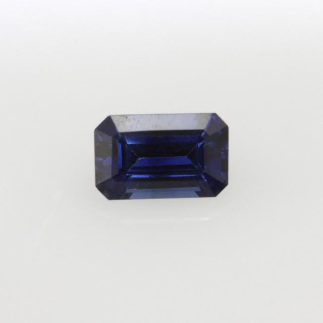 0.69cts Natural Australian Blue Sapphire Emerald Cut