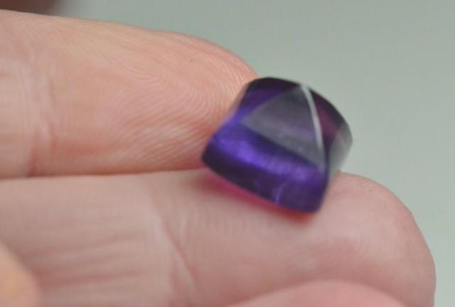 Amethyst sugar loaf gemstone cabochon 10mm