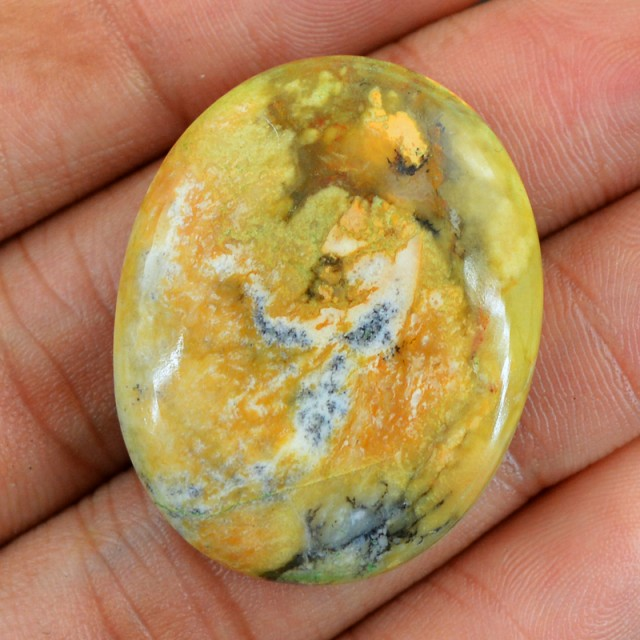Genuine 47.85 Cts Willow Creek Jasper Oval Shaped Cab