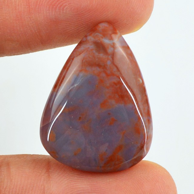 Genuine 21.55 Cts Brown Agate Pear Shaped Cab