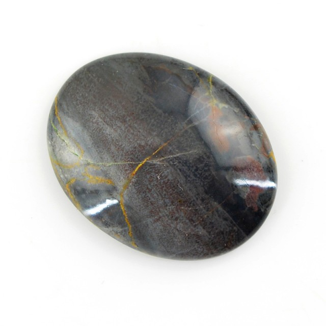 Genuine 17.45 Cts Willow Creek Jasper Oval Shaped Cab