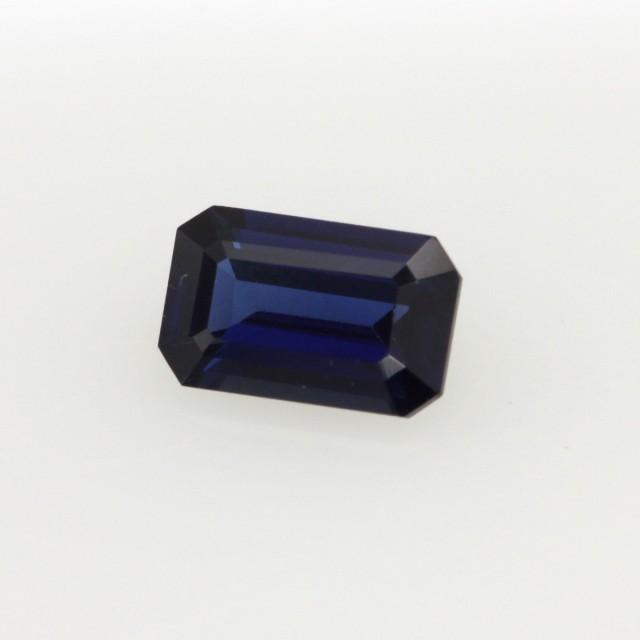 0.59cts Natural Australian Blue Sapphire Emerald Cut