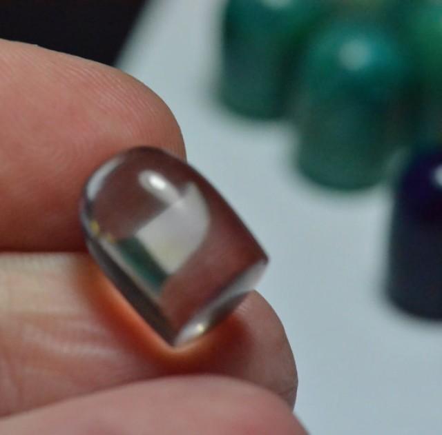 Ametrine smooth bullet cut gemstone cabochon 10mm