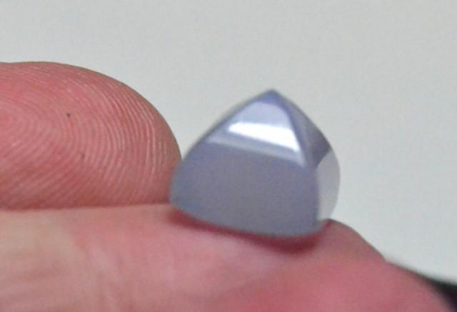 Chalcedony sugar loaf gemstone blue 10mm by 8.5mm
