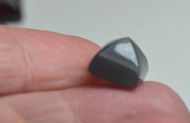 Grey Moonstone sugar loaf gemstone cabochon 10mm by 8.5mm